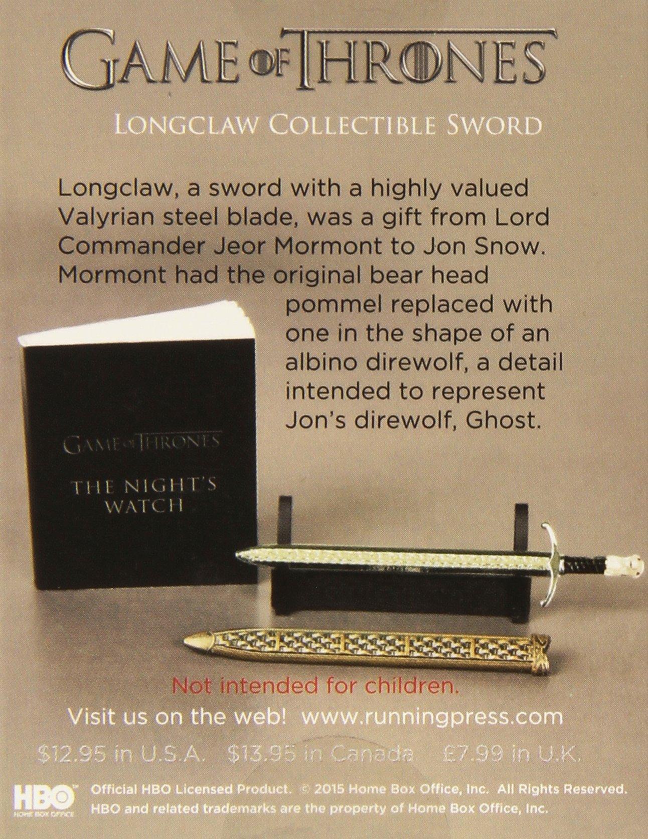 Amazon.com: Longclaw - Espada coleccionable, juego de tronos ...