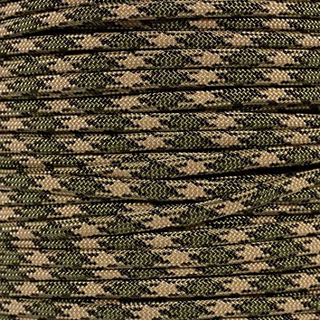 Also known as paracord rope USA made to provide durability and strength ParacordPlanet and military cord parachute rope utility cord tactical cord PARACORD PLANET 550 100 Foot Hank Camo Pattern Parachute Cord