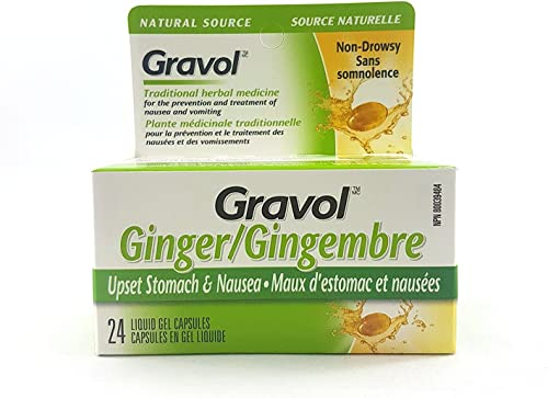 Gravol GINGER Antinauseant 24 GELS New*