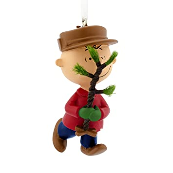 Image Unavailable. Image not available for. Color: Hallmark Peanuts Charlie  Brown Christmas Tree Ornament ... - Amazon.com: Hallmark Peanuts Charlie Brown Christmas Tree Ornament