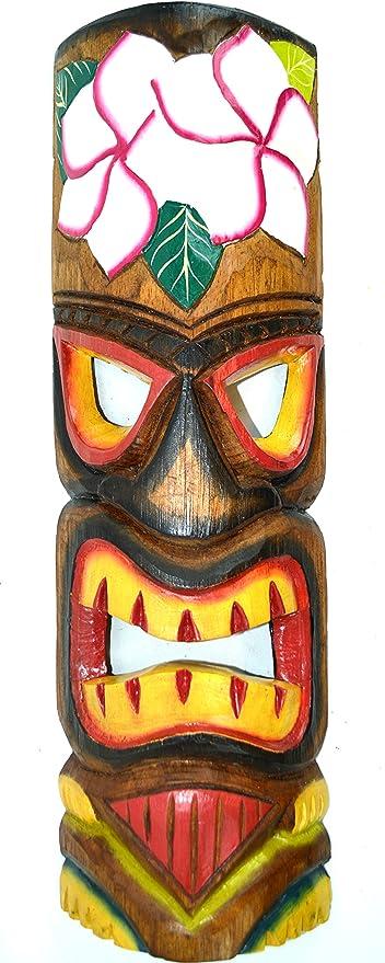 20 SET OF 2 HANDMADE TIKI MASK HAWAIIAN POLYNESIAN WALL ART TRIBAL BAR TROPICAL