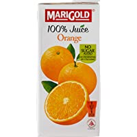 MARIGOLD 100% Juice, Orange, 1L, (Pack of 12)