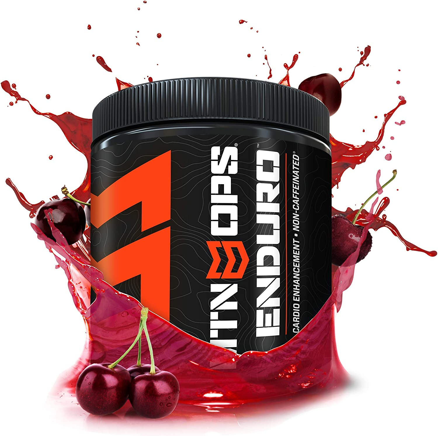 MTN OPS Enduro Cardio Energy Enhancement Supplement, Nitric Oxide Boost No Crash , Black Cherry Flavor, 30 Servings Per Container