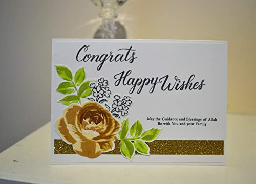 Amazon Com Nikah Mubarak Card Islamic Wedding Card Happy Wedding Card Congratulations Card Handmade Wedding Card Happy Birtday Card Walimah Handmade