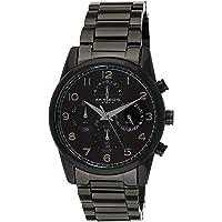 Akribos XXIV Men's AK1042BK Bracelet Watch –Stainless Steel Chronograph Quartz Wristwatch (Black)