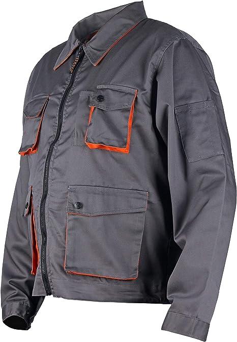 Gris//Orange Desman/® Homme Veste de Travail multifonctionnelle