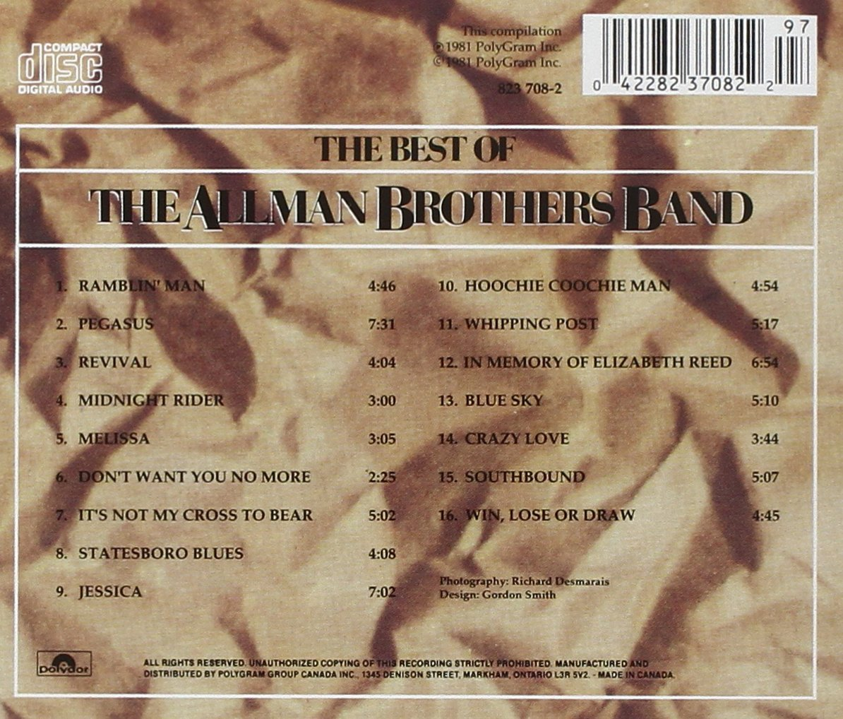 The Best of The Allman Brothers Band by Polydor