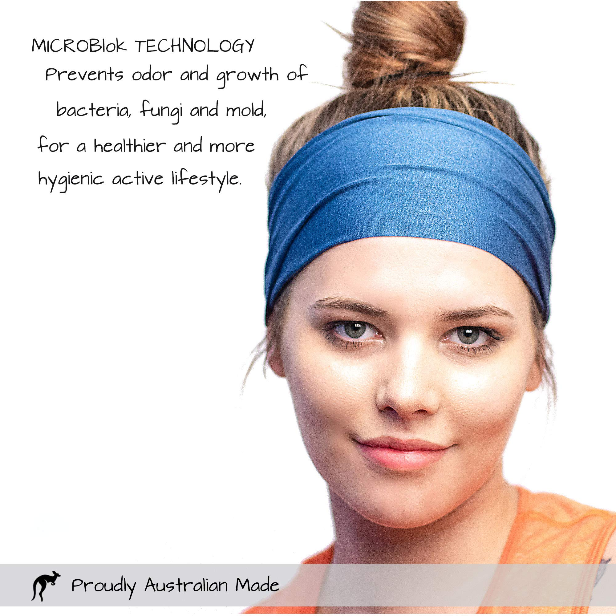 Red Dust Active Workout Headband - Ideal for Sports, Fitness, Running, The Gym & Yoga - Moisture Wicking - Non-Slip - Exercise Sweatband - Designed for Versatility & The Active Women by Red Dust Active (Image #5)