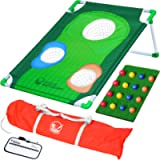 GoSports BattleChip Backyard Golf Cornhole Game - Fun New Golf Game for All Ages & Abilities