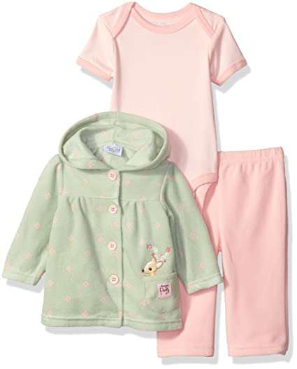 99a840ca8 Amazon.com  Rene Rofe Baby Baby Girls  3 Piece Microfleece Jacket ...