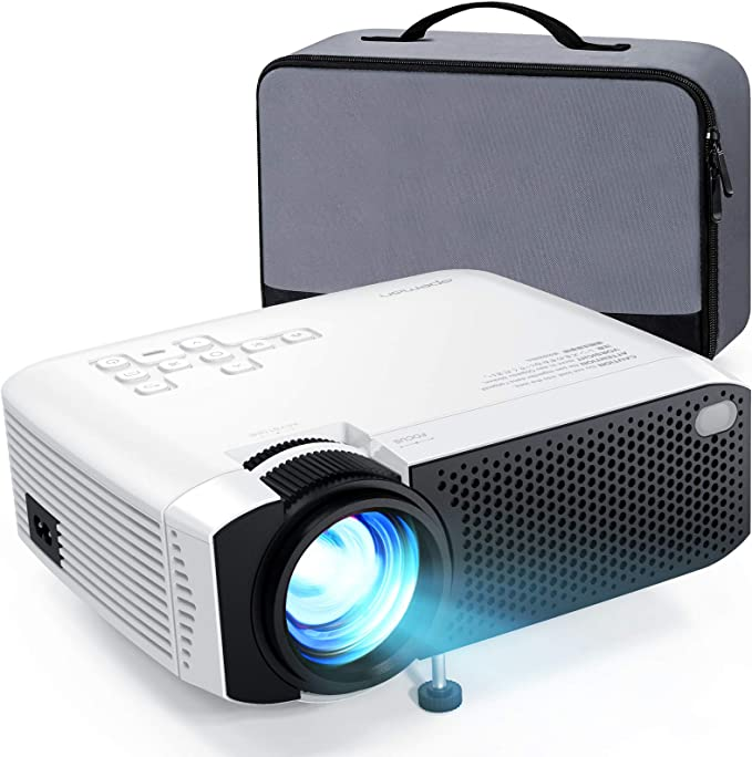 Beamer Apeman Mini Beamer Support 1080p Full Hd Video Beamer Mit Tasche Geräuscharm Projektor Led 60000 Stunden Heimkino Kompatibel Mit Hdmi Tf Usb Ios Android Phone Laptop Tv Box Av Vga Projektor Heimkino Tv Video
