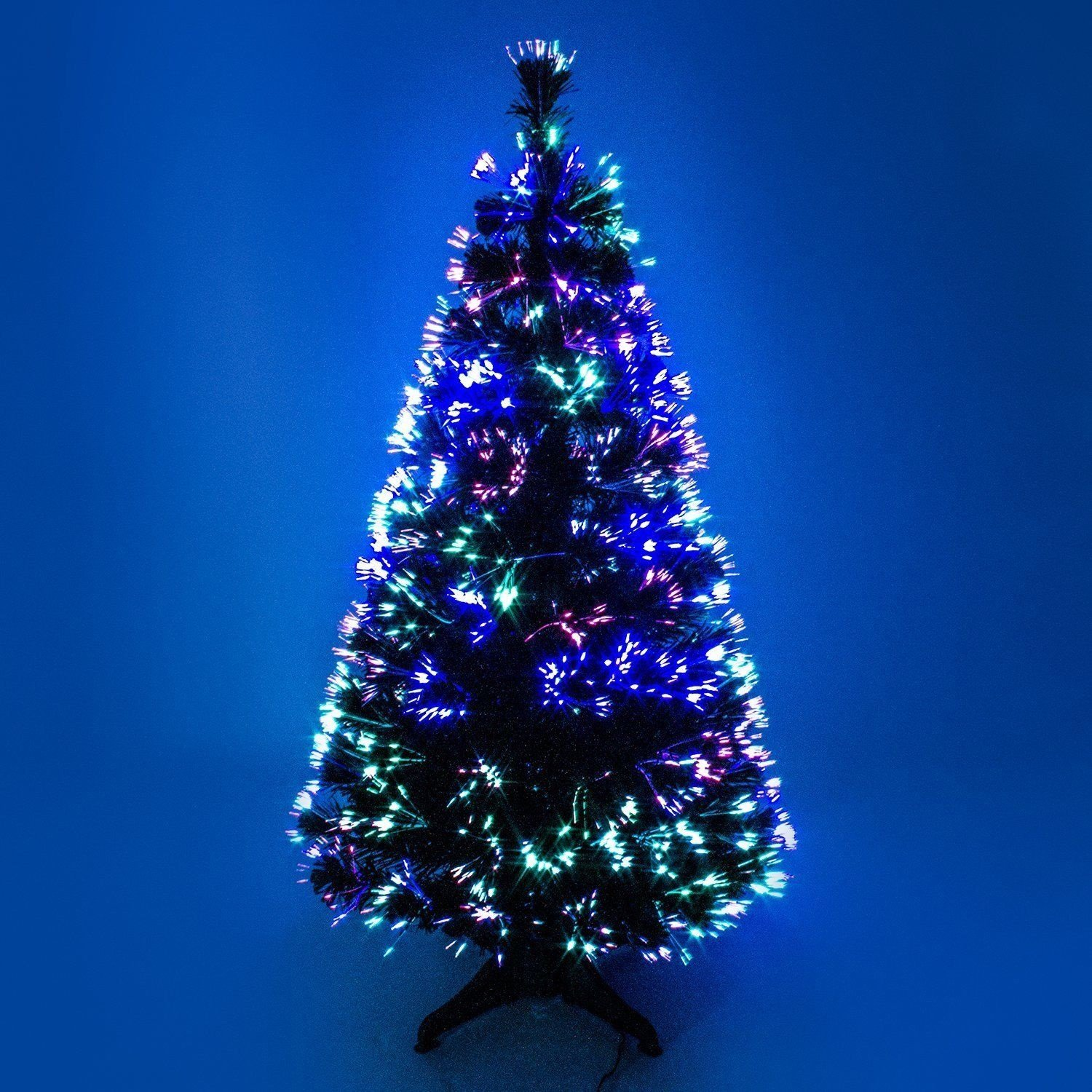 90cm 3ft green Christmas tree x-mas tree fiber optic color changing multi color led lights with stand free standing homion