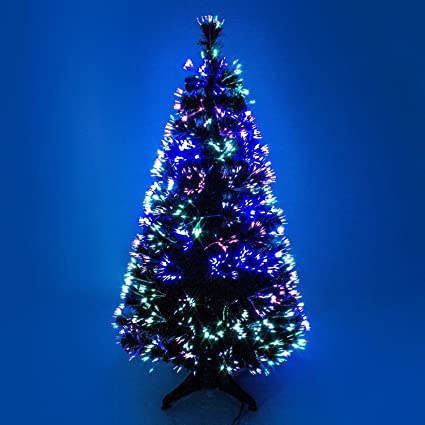 Led Fiber Optic Christmas Trees.90cm 3ft Green Christmas Tree X Mas Tree Fiber Optic Color Changing Multi Color Led Lights With Stand Free Standing