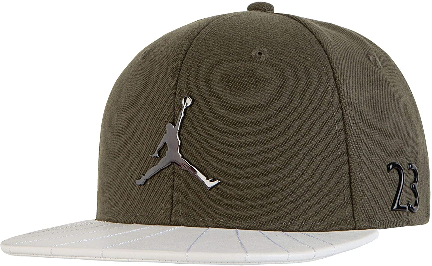 e548fdd69c0 Jordan Boys  Retro 12 Snapback Hat (Olive) at Amazon Men s Clothing store