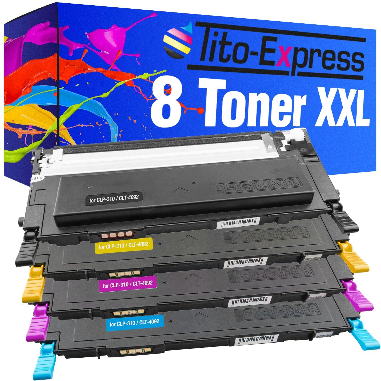 Tito-Express PlatinumSerie 8 Cartuchos de tóner compatibles con ...