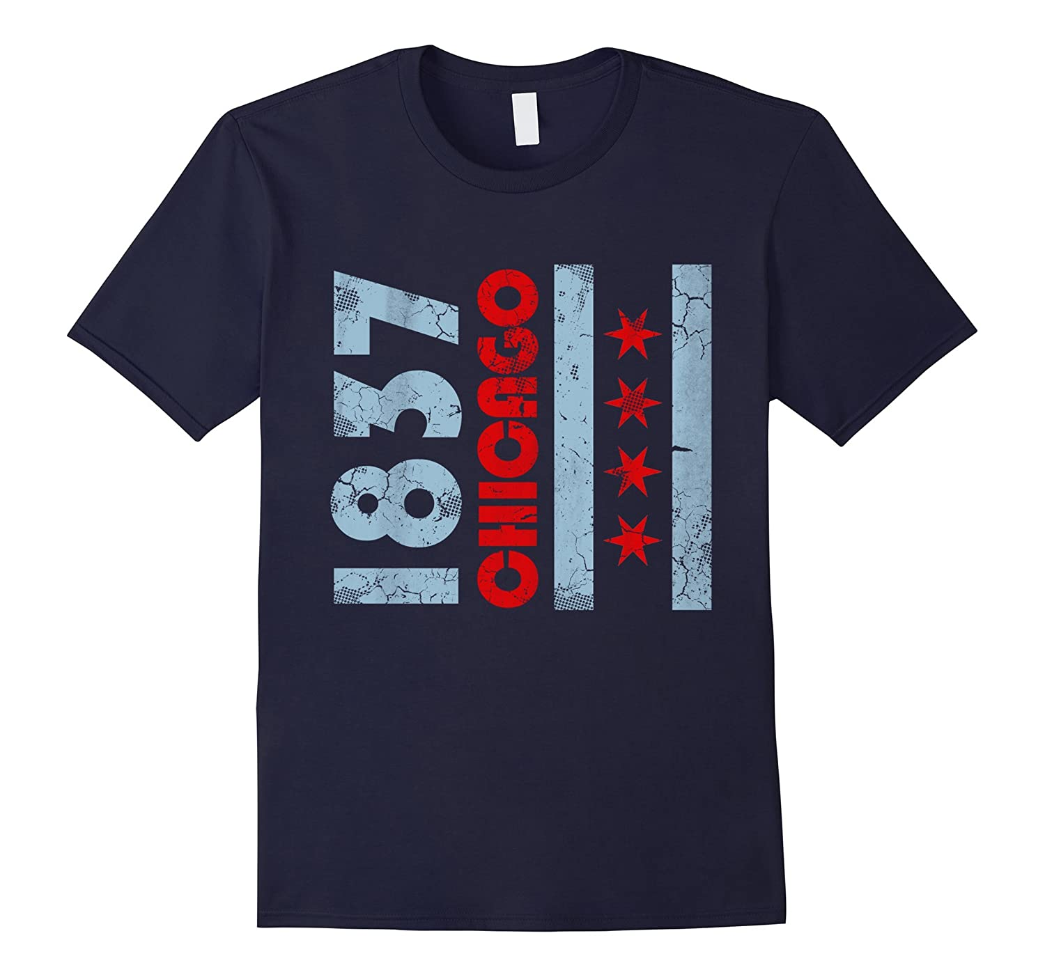 1837 Chicago Flag Illinois Shirt-PL