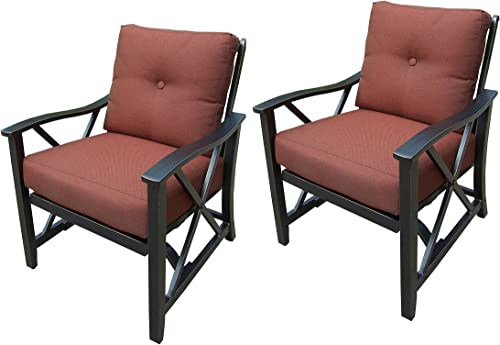 Oakland Living 2 Piece Haywood Deep Seat Rocking Chairs