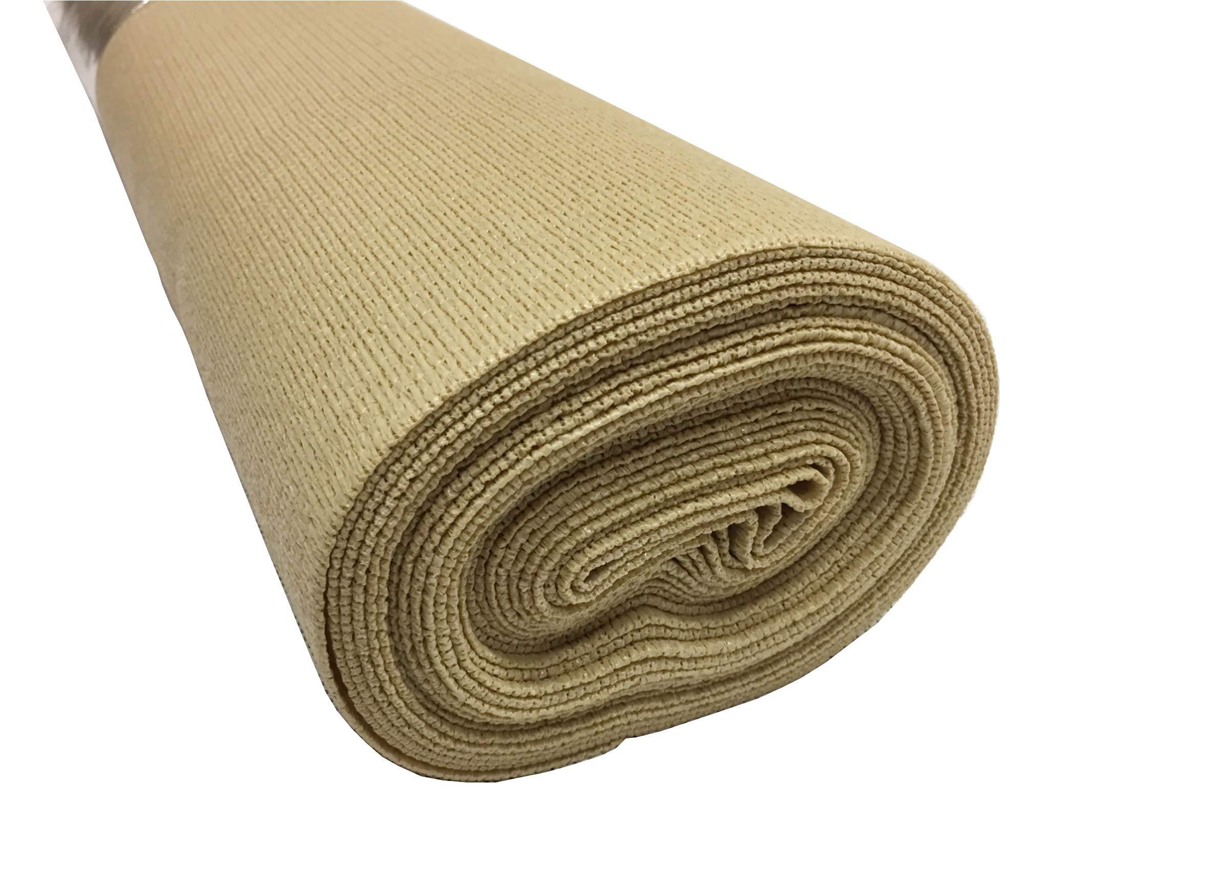 iDeal Fabrics Outdoor Shade Cloth - 5'-8'' x 20' - UV Protection - Shade Fabric (Beige)