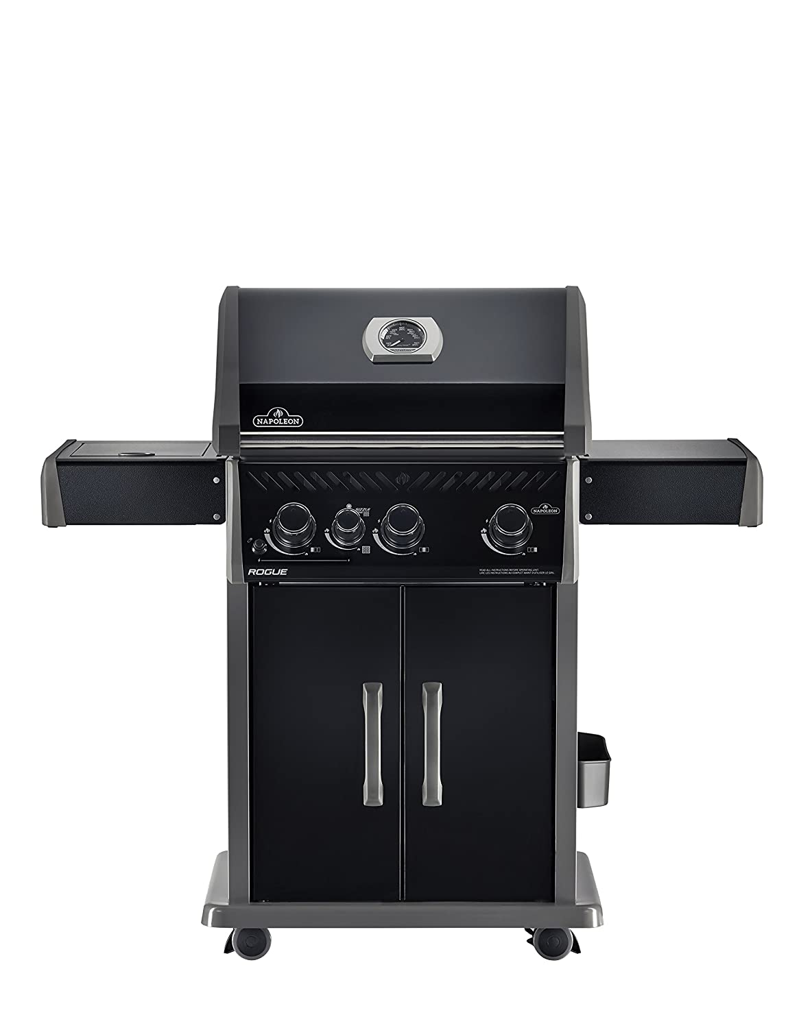 Napoleon R425SIBPBE Rogue 425 sq. in. Black Edition Propane Gas Grill with Infrared Side Burner