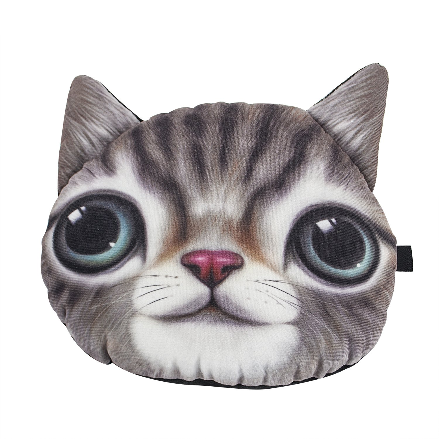 Headrest Pillow 3D Cute Animals Cat Car Neck Pillow Lovely and Comfortable Auto Seat or Rest
