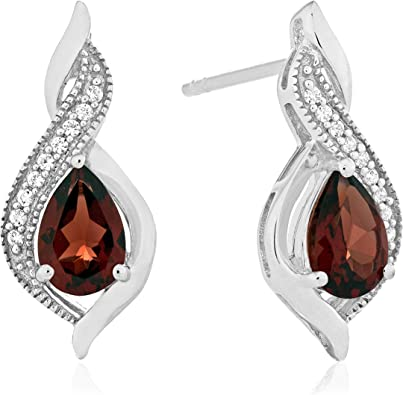 Sapphire Rose Cut Earrings 92.5 Sterling Silver Sapphire Faceted Earring Handmade Jewelry