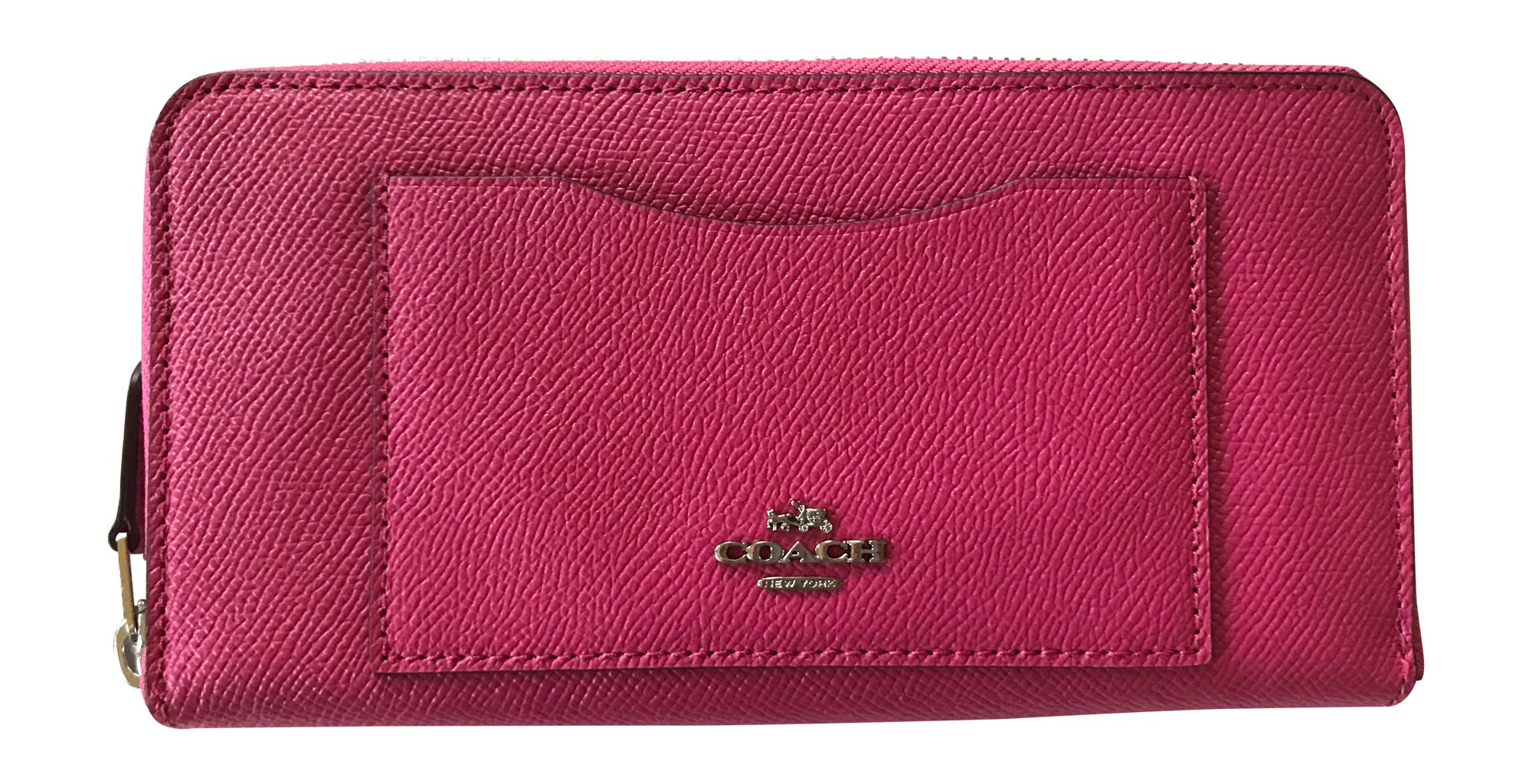 Coach Crossgrain Leather Accordian Zip Wallet, Magenta by Coach