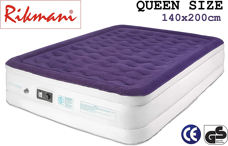 cama de aire para invitados colch/ón de aire con bomba para acampar 203 x 152 x 45 cm cama de aire de tama/ño queen colch/ón de aire de 140 x 200 cm Colch/ón de aire para 2 personas