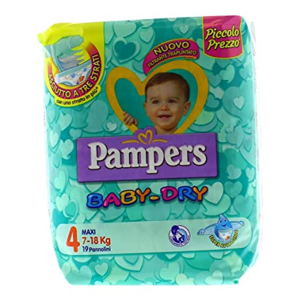 Pampers - Baby Dry - Pañales - Talla 4 (7-18 kg) -