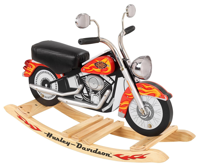 Amazon.com: KidKraft Harley Davidson Roaring Softail Rocker: Toys U0026 Games