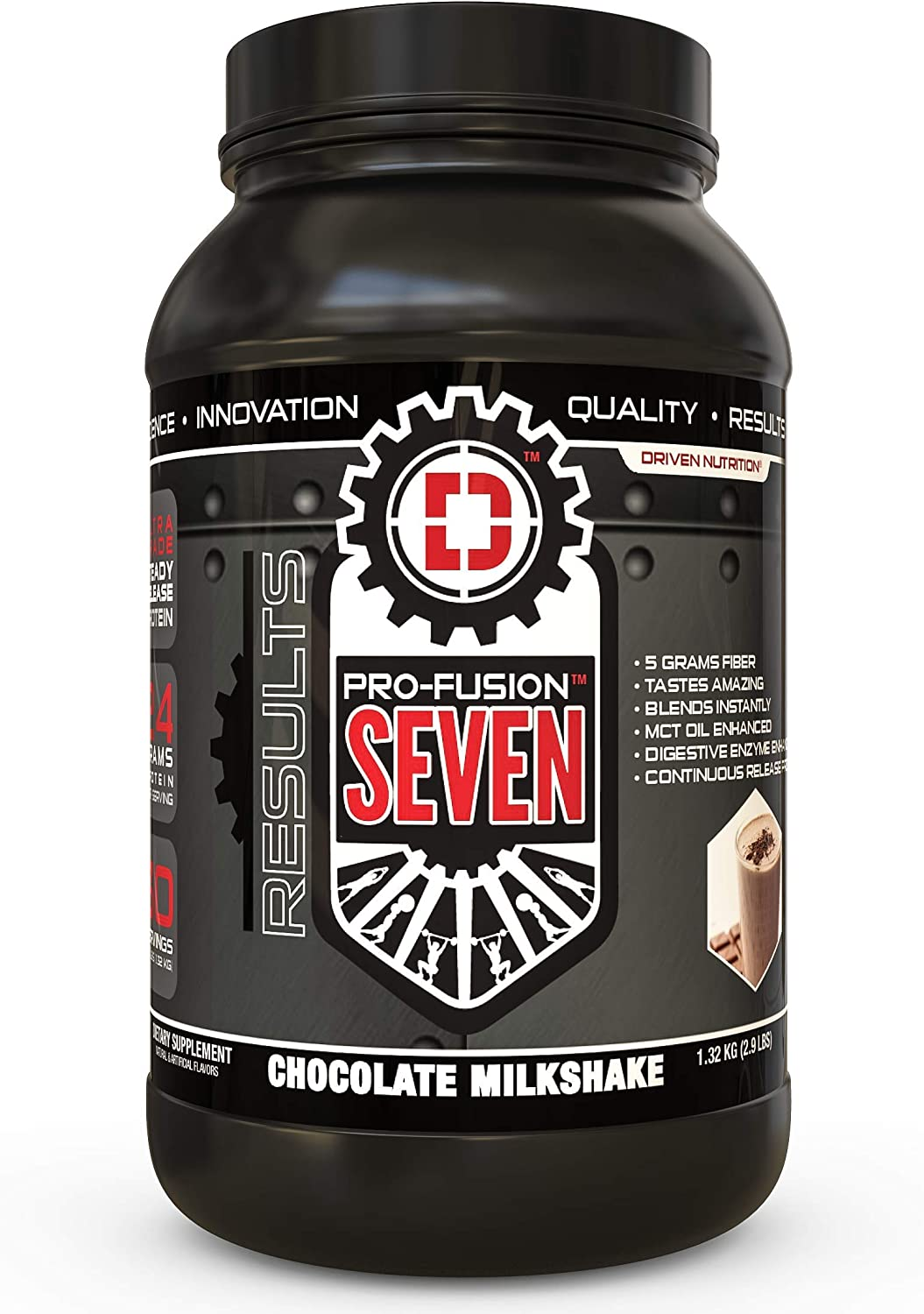 PRO Fusion 7 Sustained Release Protein- High Protein Meal Replacement Enhanced with MCT Oil Chocolate