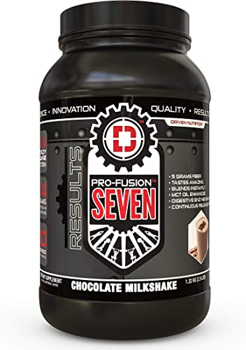PRO Fusion 7 Sustained Release Protein- High Protein Meal Replacement Enhanced with MCT Oil Chocolate Milkshake