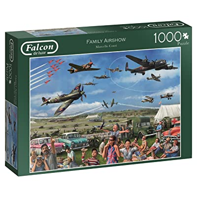 Jumbo 11195 Family Air Show 1000 Piece Jigsaw Puzzle: Toys & Games