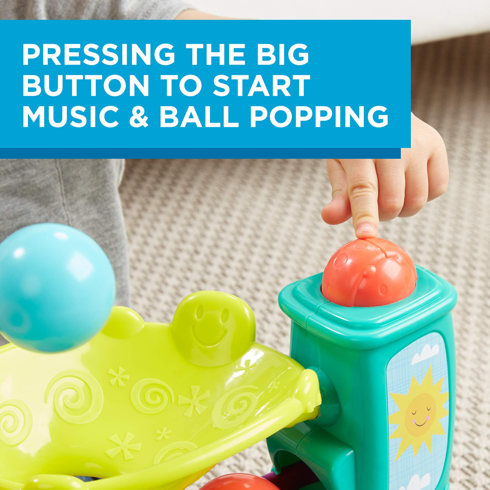 Playskool Chase n Go Ball Popper (Teal), Ages 9 Months and up by Playskool (Image #3)
