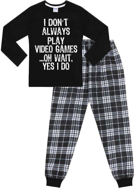 The PyjamaFactory Brand I Dont Always Play Video Games I Yes I do Woven Long Pyjamas