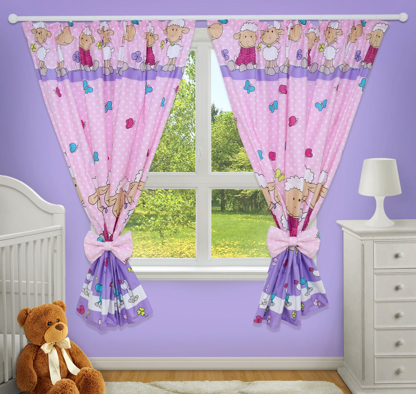 LUXURY DECORATIVE CURTAINS FOR BABY ROOM MATCHING WITH OUR NURSERY BEDDING SETS Ladder cream