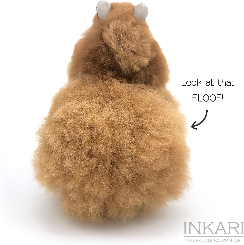 Eco-Friendly Alpaca Plushie Sahara Super Fluffy Fur Llama Stuffed Animal Toy in 3 Sizes Cute Plush Alpaca Toy of Natural Alpaca Wool Inkari Alpaca Soft Toy S Handmade