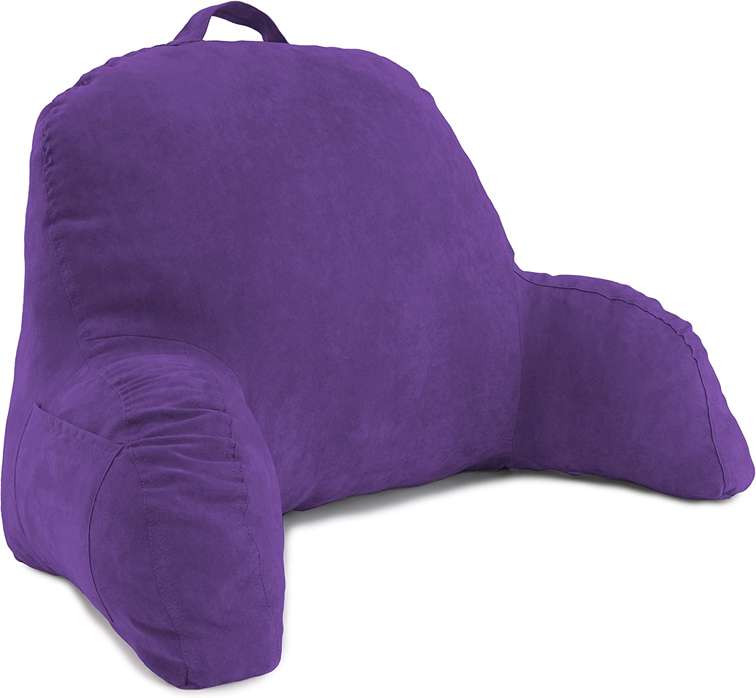 Deluxe Comfort Microsuede Bed Reading & Bed Rest Pillows, One Size, Light Purple: Home & Kitchen