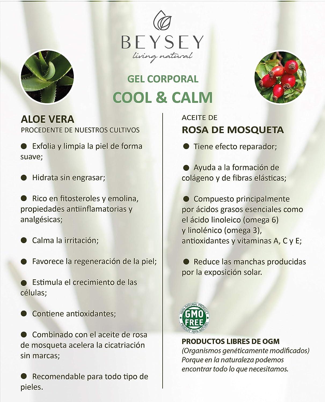 Cool And Calm Gel De Aloe Vera Puro Orgánico 200ml Efecto Crema Hidratante/Complemento Protector Solar Tras Exposición/Refrescante Antiinflamatorio Post ...