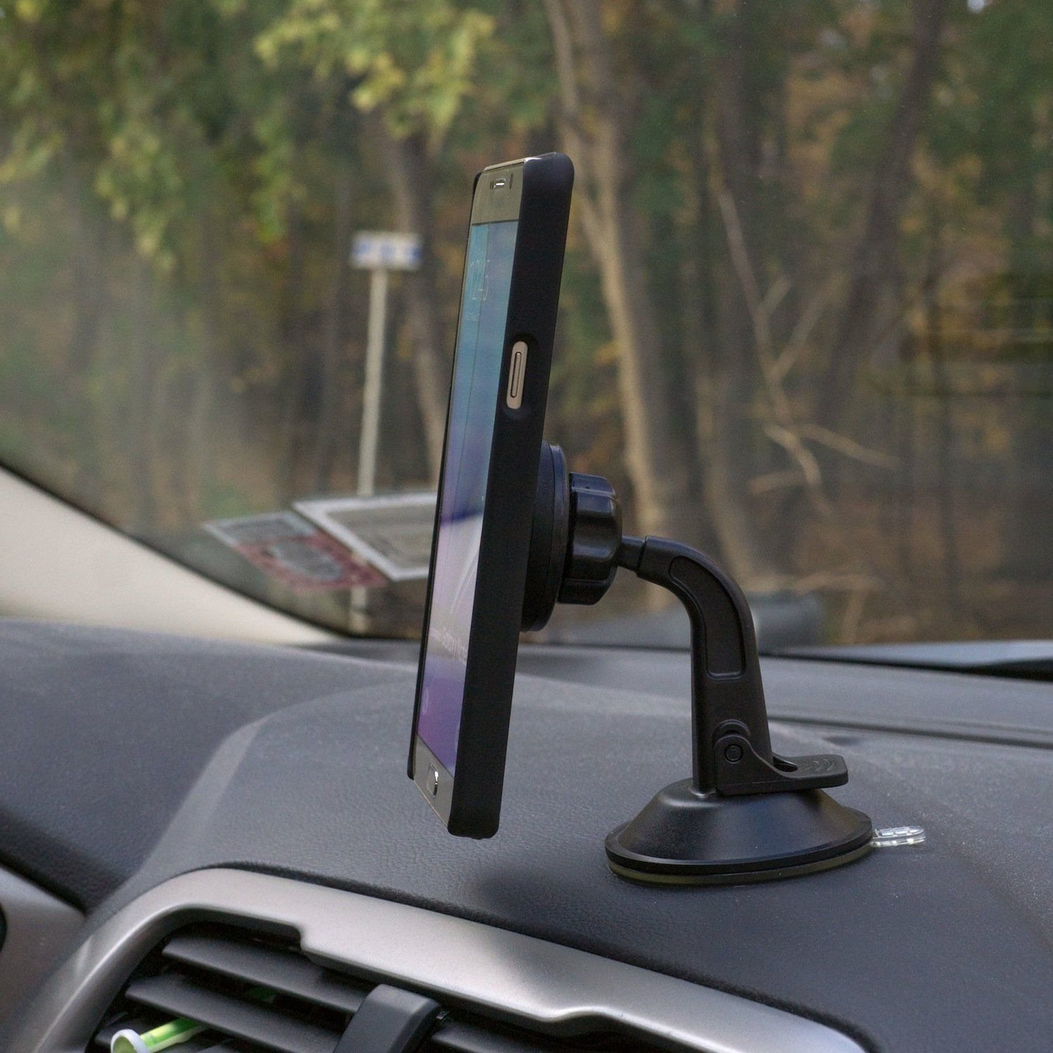 New Version Dashboard Mount WizGear Universal Magnetic Car Mount Holder Windshield Mount and Dashboard Mount Holder for Cell Phones with Fast Swift-snap Technology Magnetic Dashbord mount Dashboard Mount