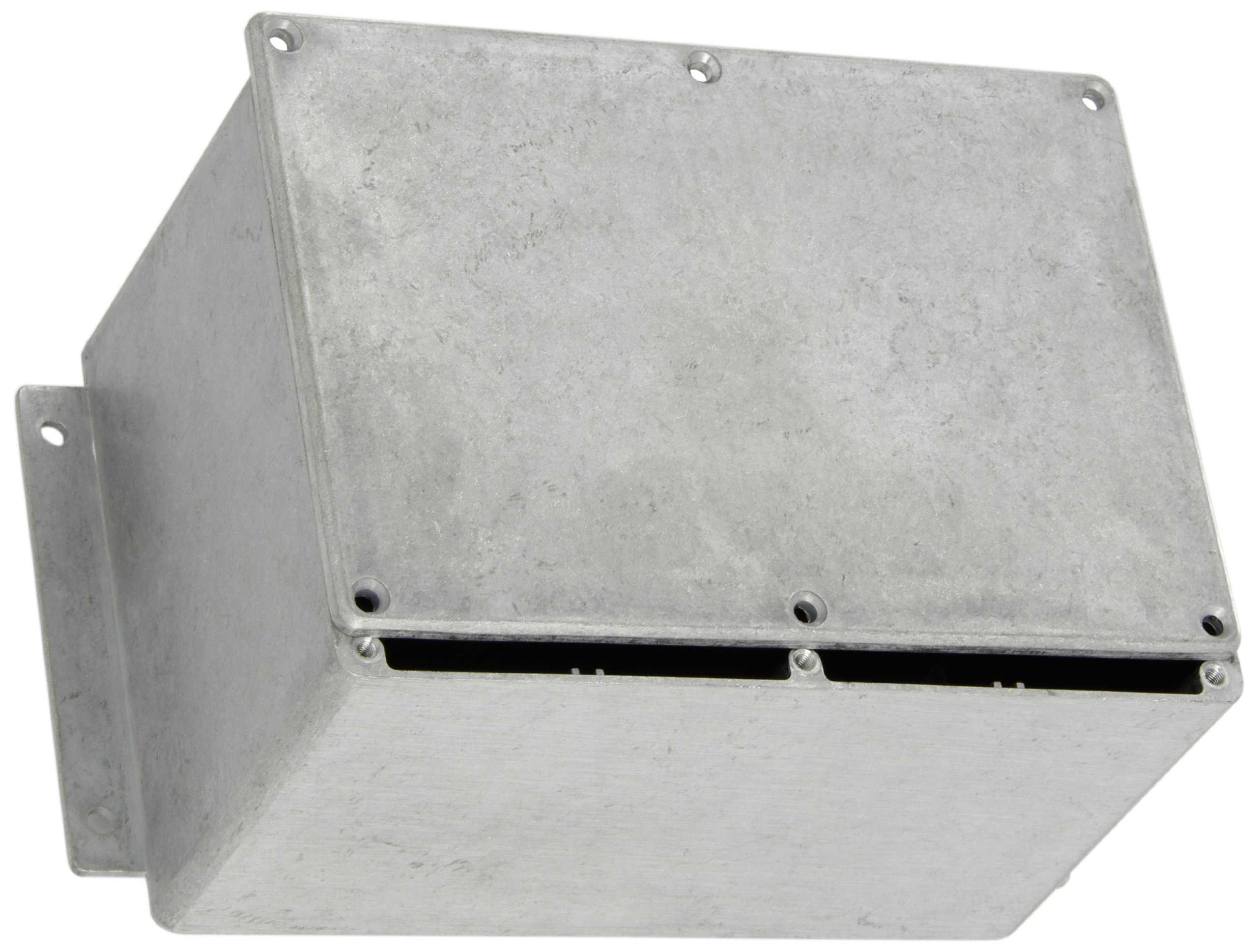 BUD Industries CN-6710 Die Cast Aluminum Enclosure with Mounting Bracket, 6-49/64'' Length x 4-49/64'' Width x 4-13/64'' Height, Natural Finish