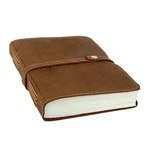 Amazon.com: Cuaderno de notas de piel para hombre y mujer ...
