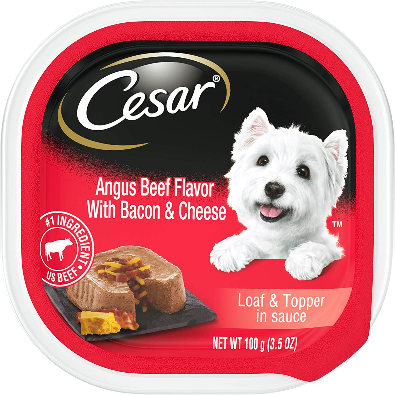Cesar Savory Delights Loaf & Topper in Sauce Wet Dog Food, Pack of 24
