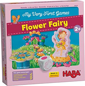 HABA My Very First Games - Flower Fairy - A Cooperative Stacking and Color Matching Game for Ages 2+ (Made in Germany)