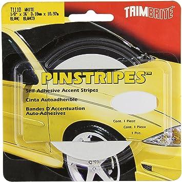 Amazon Com Trimbrite T1110 1 8 Pinstripe Tape White Automotive