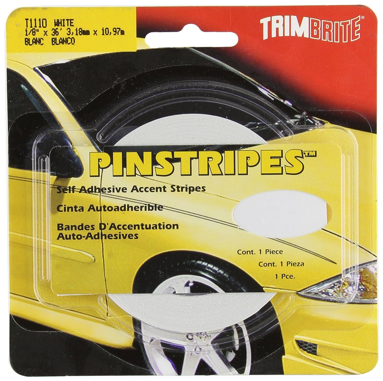6 Trimbrite T1110 1//8 Pinstripe Tape White