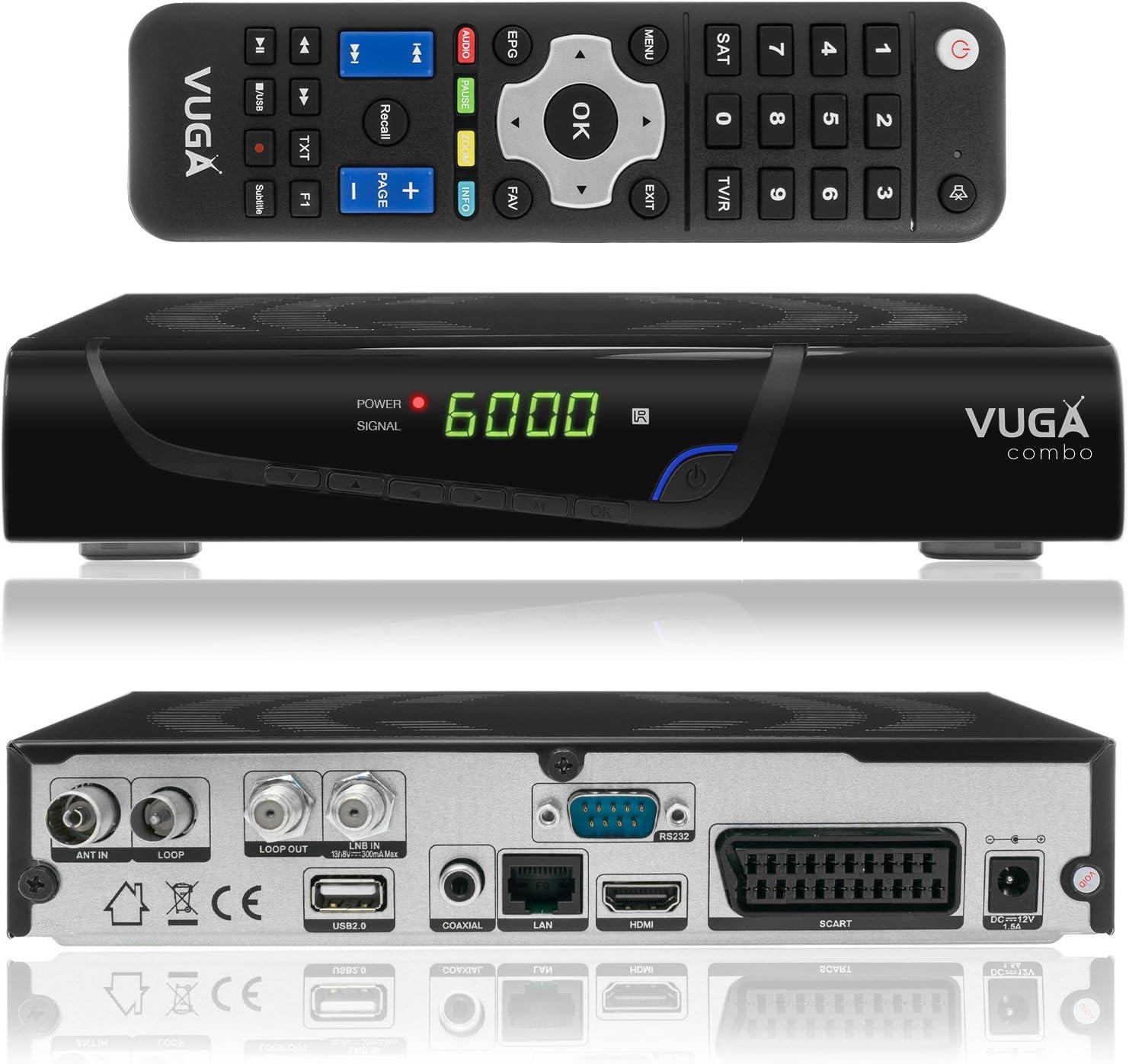 Vuga Combo Full Hdtv H 265 Digital Satellite Receiver Elektronik