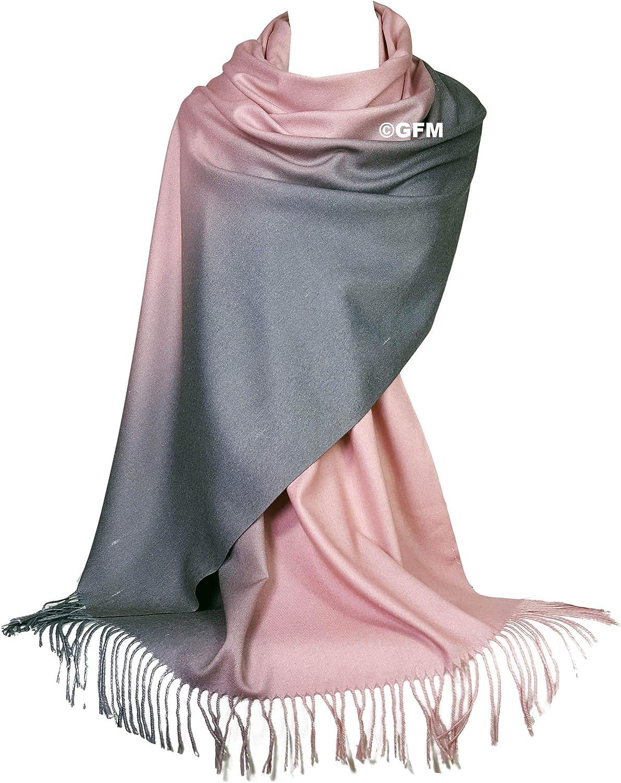 GFM Ton zwei Strukturierter Schal aus weichem Kaschmir im Pashmina-Stil Geeignet f/ür Herbst /& Winter. TT16