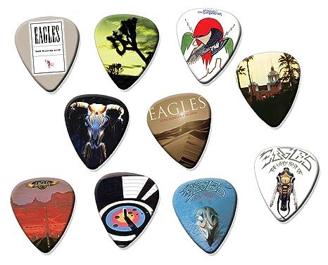 Eagles (limitada a 150 juegos) Set de 10 púas de guitarra eléctrica o acústica