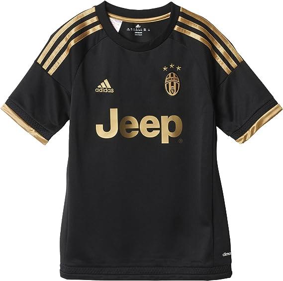 adidas Juve 3 JSY Y - Camiseta para niño, Color Negro/Dorado, Talla 128: Amazon.es: Ropa y accesorios