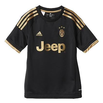 Adidas Juve 3 JSY Y - Camiseta para niño, Color Negro/Dorado, Talla